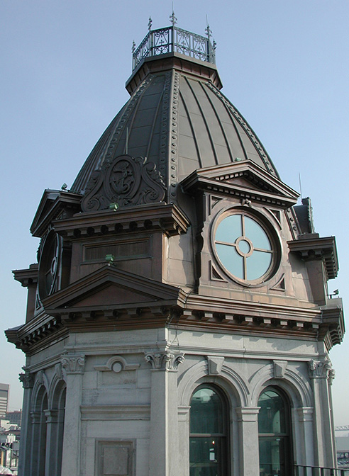 copper cupola ornamental decorative montreal harbour commission