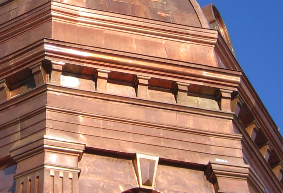 copper cornice brackets sheet metal cornice