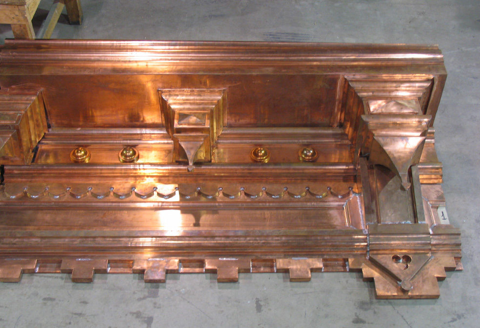 copper cornice capitals sheet metal cornice