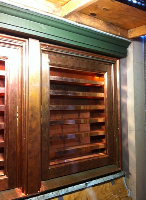 copper louvers kalamein project