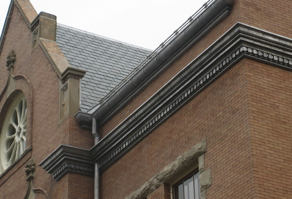 lead coated cornice sheet metal cornice