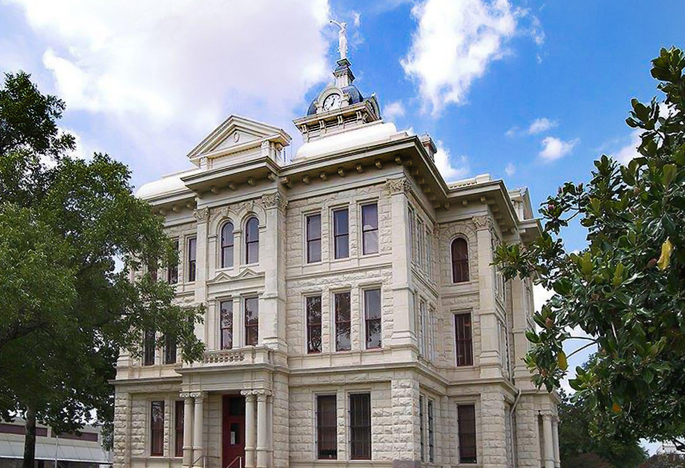 lady justice milam county court house texas