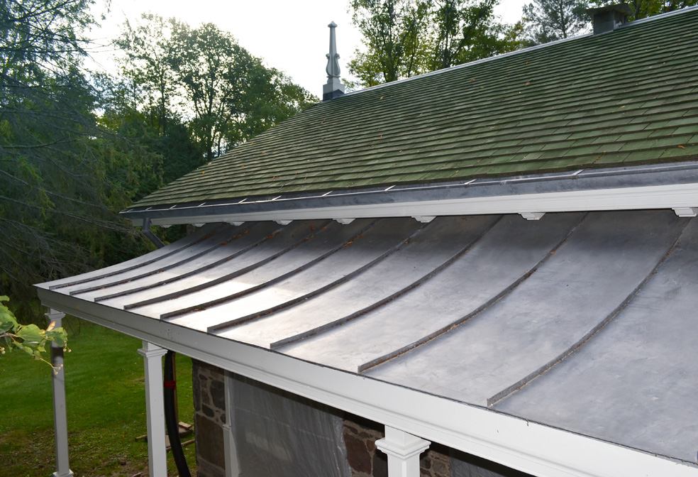 copper and cedar roofing
