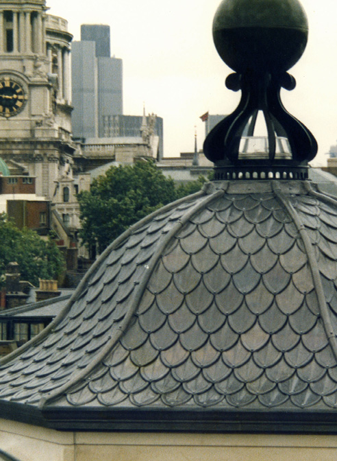lead shingled cupola