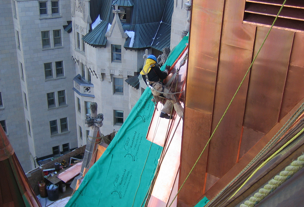 standing seam copper chateau laurier ottawa