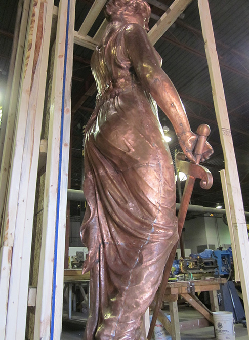 copper lady justice navarro county texas
