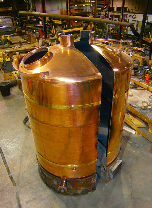Two half copper kettle, Creemore Springs Brewery