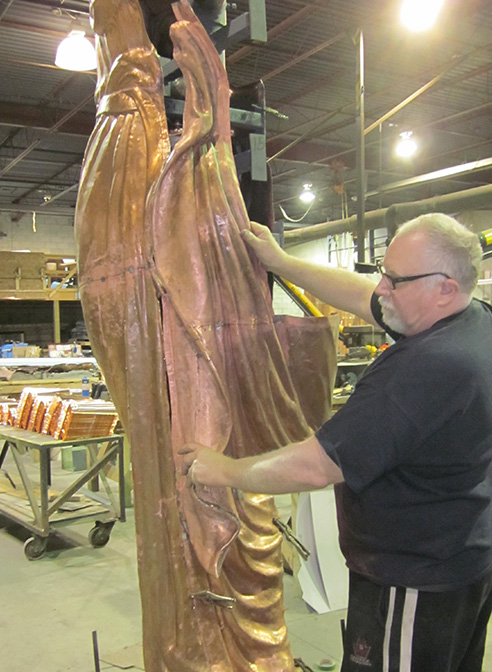 Lady Justice Statue Restoration Navarro County Court