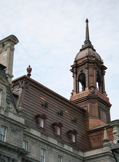spire copper steeples montreal city hall