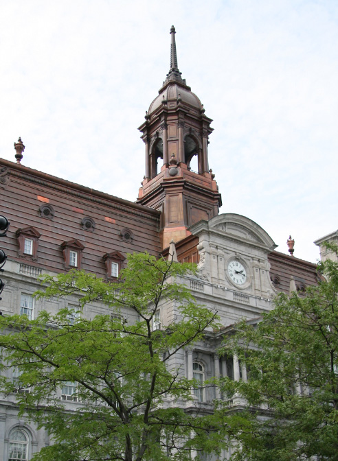 copper mansard roof montreal city hall