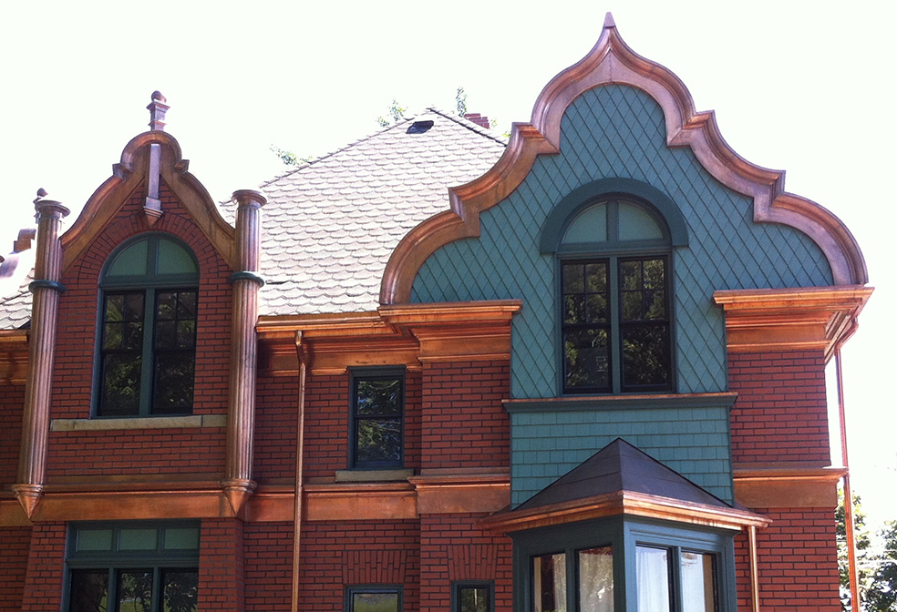 copper roof powers cottage