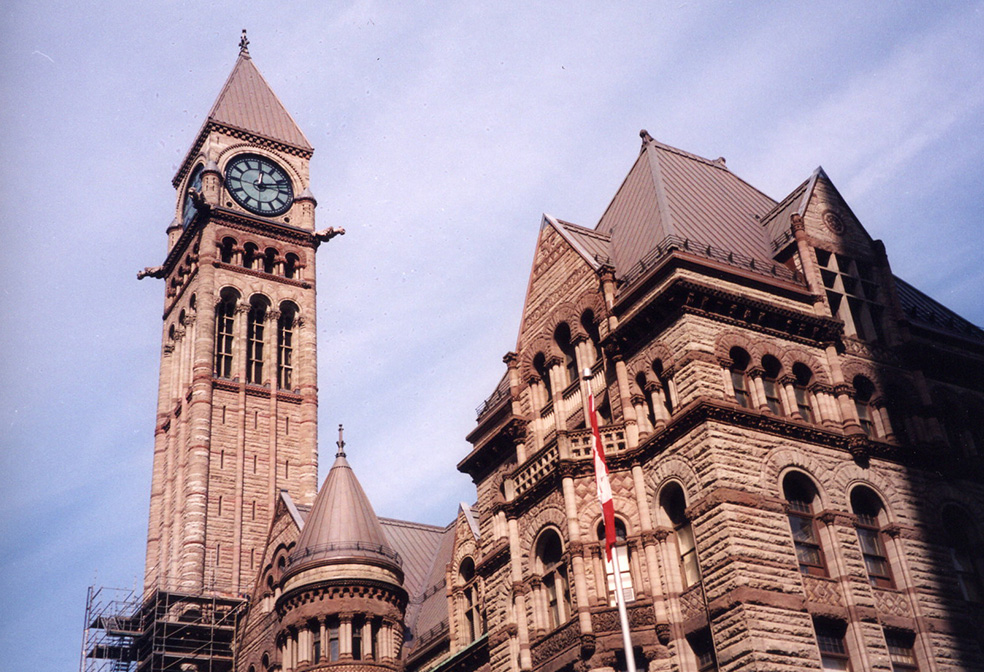 copper finials old city hall toronto clock tower