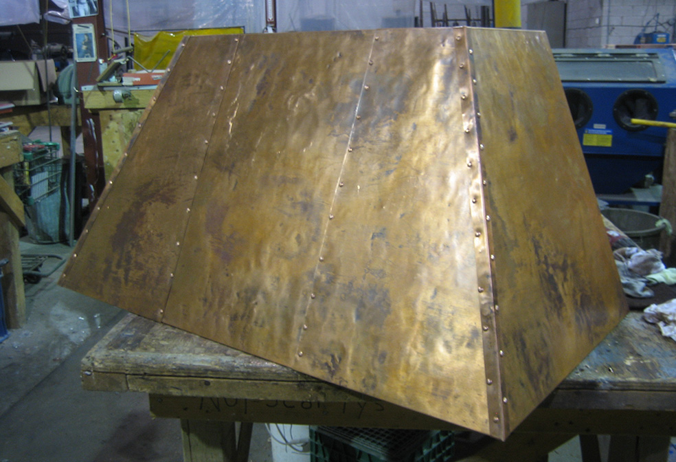 custom copper stove hood